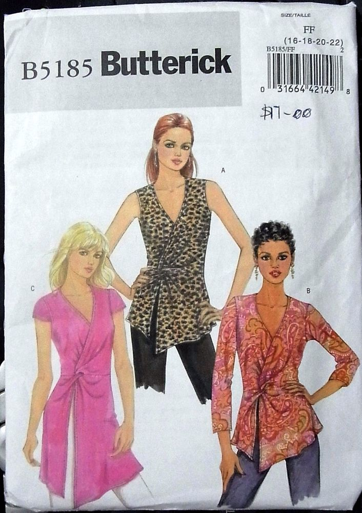 896d1a9429bf Butterick sewing pattern no.5185 Ladies tops size 16-18-20-22 unused   Butterick