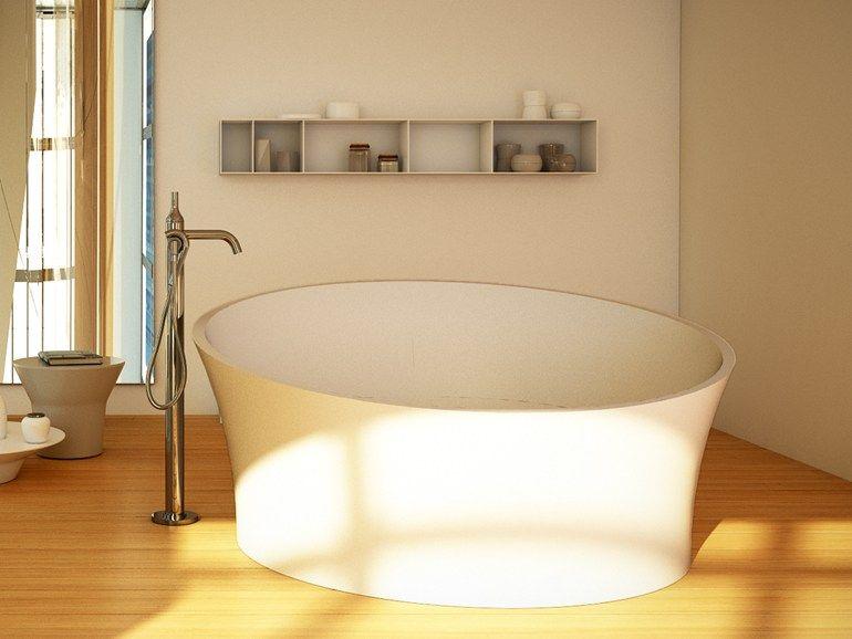 ROUND BATHTUB EVOQUE TUB SILVER COLLECTION BY DIMASI BATHROOM BY ARCHIPLAST