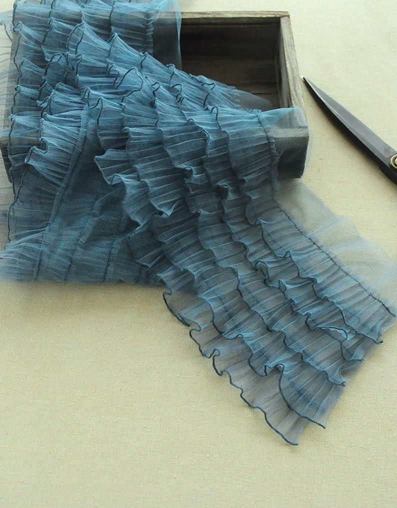 Lolita ruffled tulle trim for cake dress