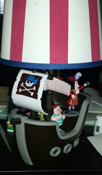 I Found This Pirate Ship Lamp At Target On Clearance I Added Figurines We Found Them At The Disney Store In A Jake Neverla Playset Disney Store Getting Old