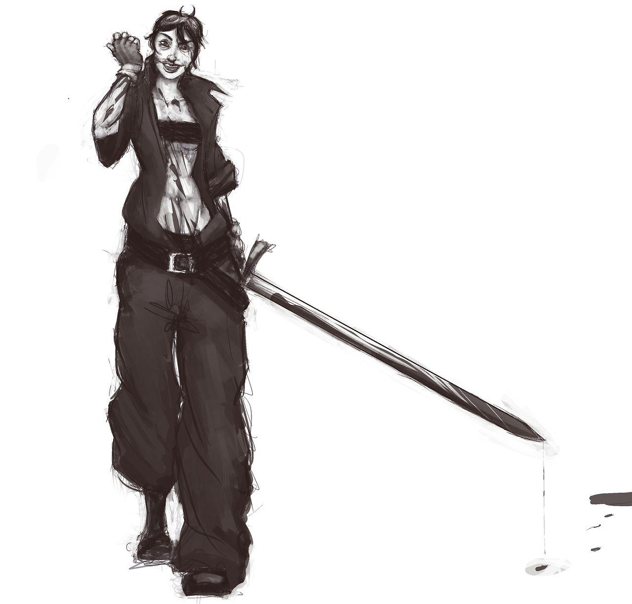 Illustration, personnage par Luckeux : Yohoho~