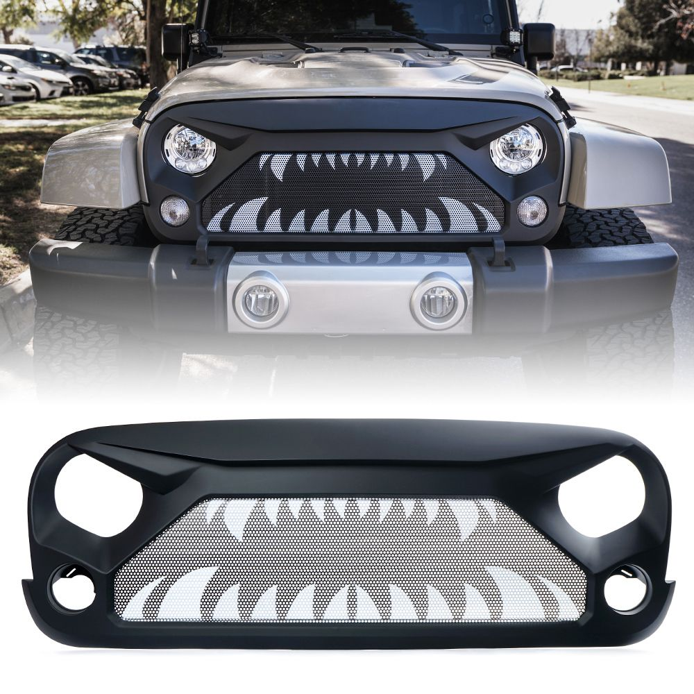 Xprite Gladiator Grille with Monster Teeth Steel Mesh for