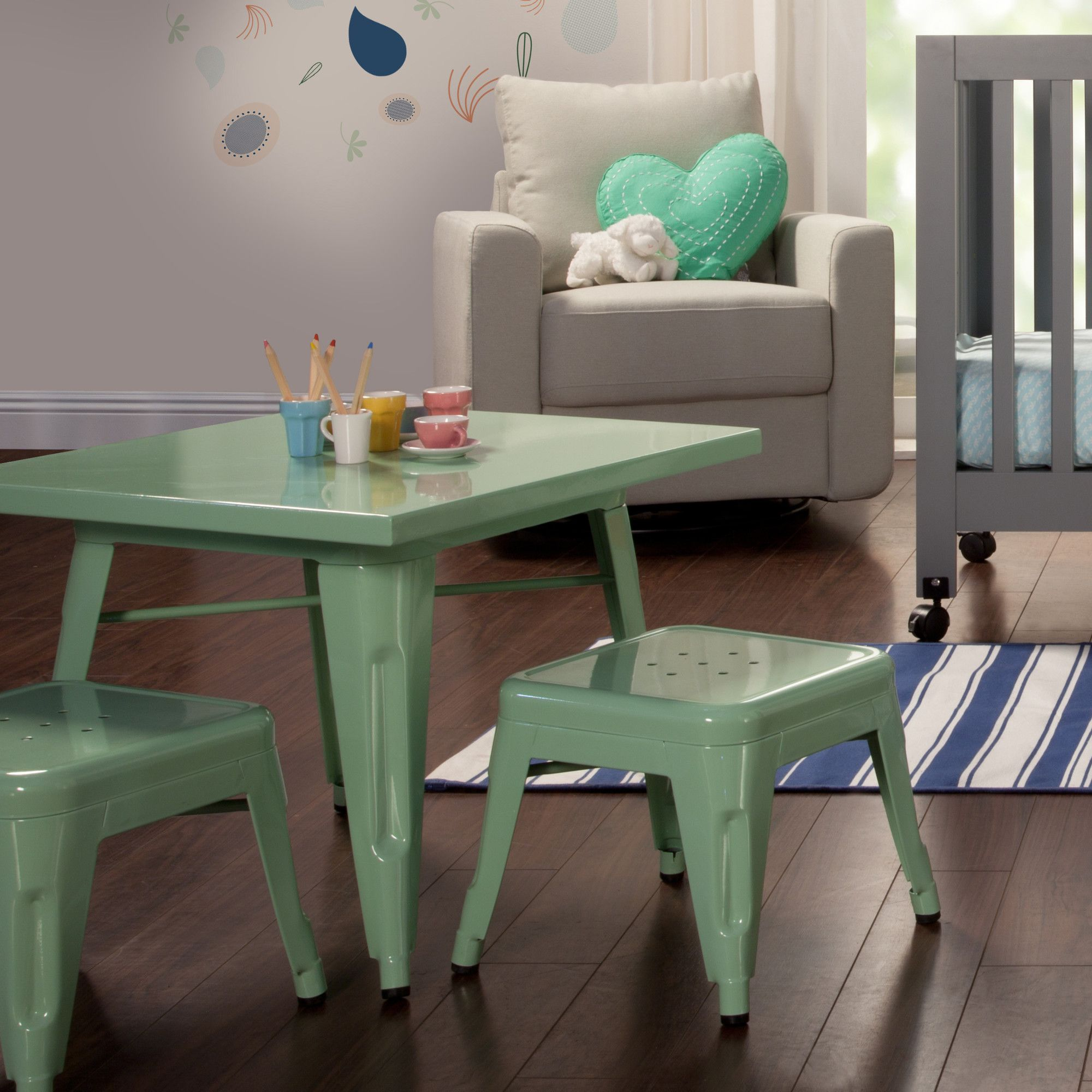 Lemonade Kids 3 Piece Square Table And Chair Set