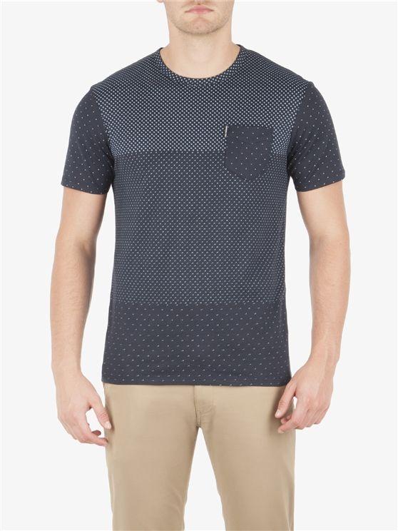 Ben Sherman Blocked Micro Print T Shirt