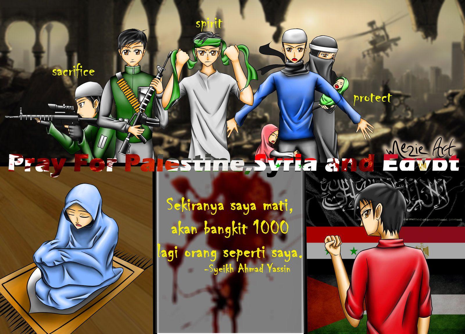 Pray For Palestine,Syria And Egypt-Original By Mezie93