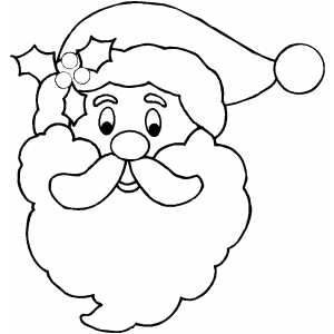 photograph regarding Printable Santa Claus known as Free of charge Printable Santa Experience Santa Deal with Coloring Webpage Picket