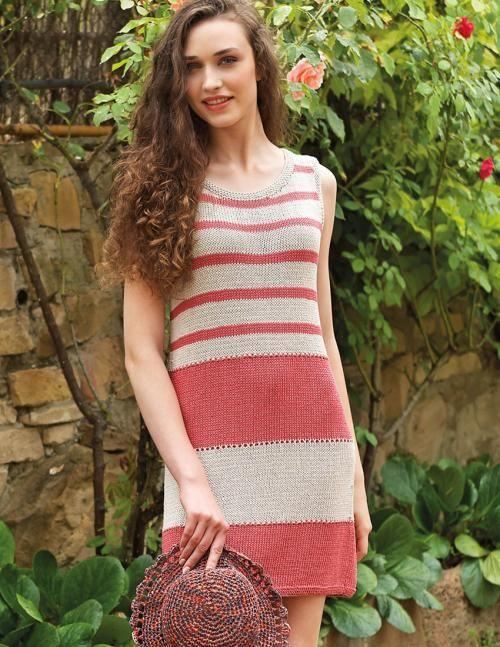 Striped Knit Dress Download Free Knitting Pattern Striped Knit