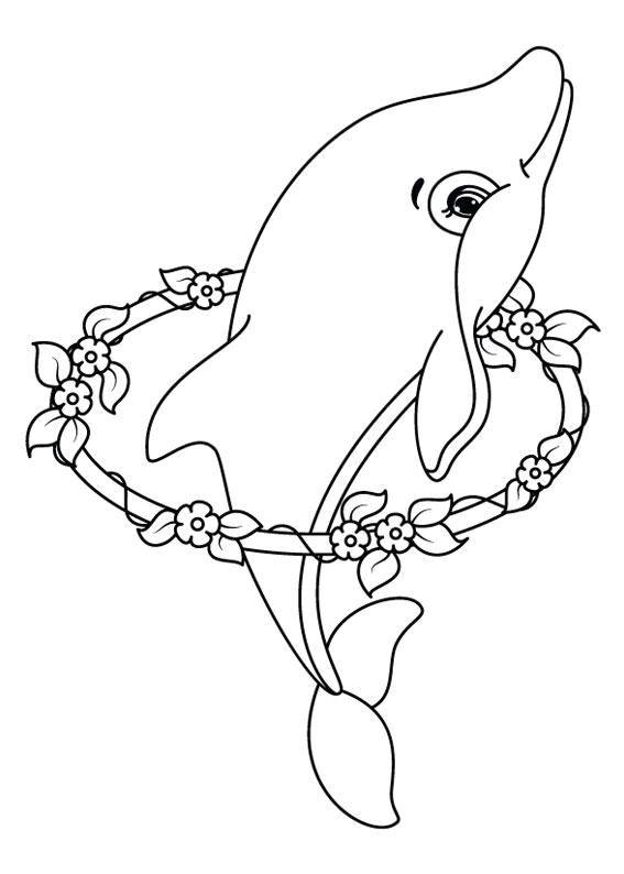 Delfini Da Stampare E Colorare.30 Disegni Di Delfini Da Colorare Disegni Da Colorare Disegni