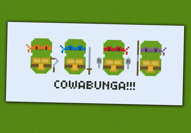 Teenage Mutant Ninja Turtles - Cartoons - Mini People - Cross Stitch ...