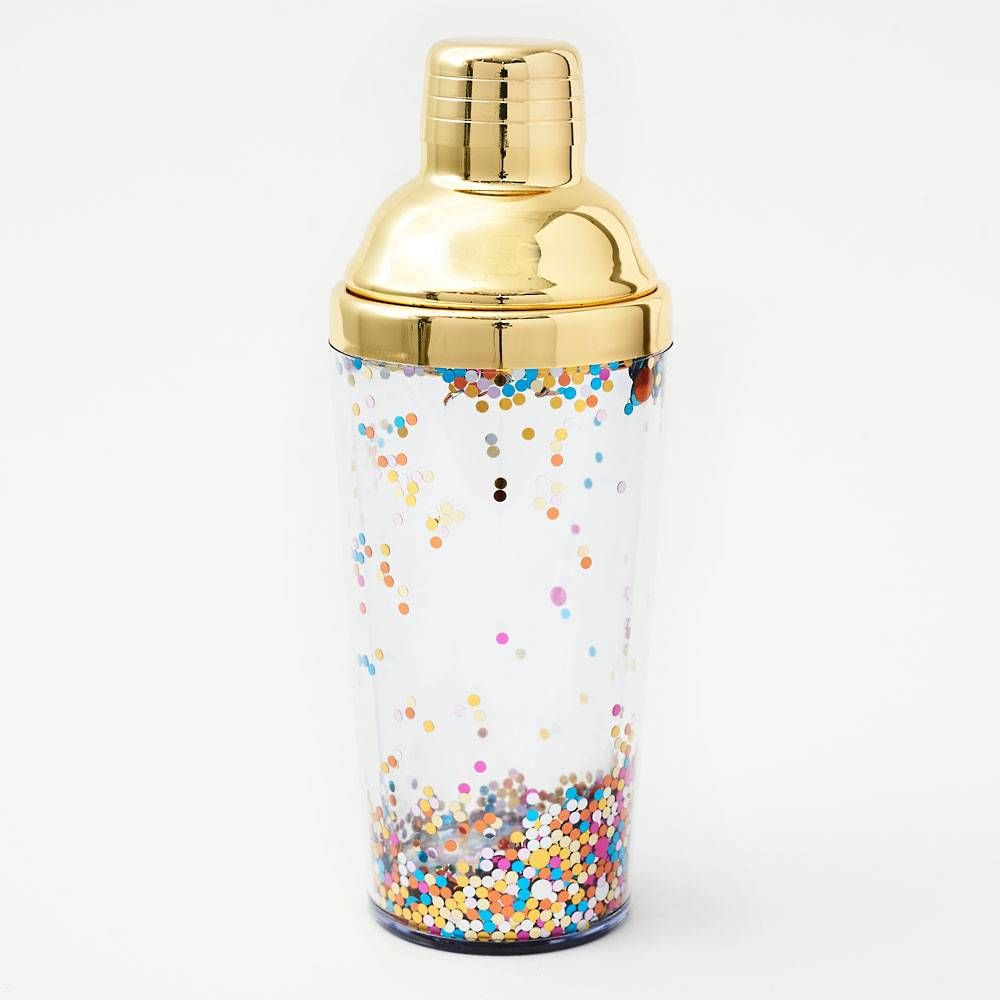 Confetti cocktail shaker gifts paper source with