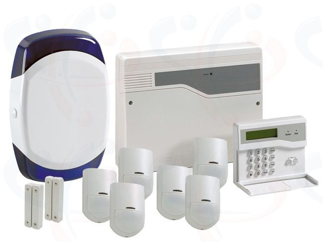 Hard wired alarm systems wire center hw8mk 8 zone pet tolerant wired alarm system mega kit the honeywell rh pinterest com hard wired home alarm systems do it yourself hardwired alarm systems solutioingenieria Images