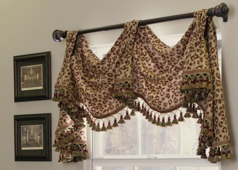 Cheetah Print Curtain Valance