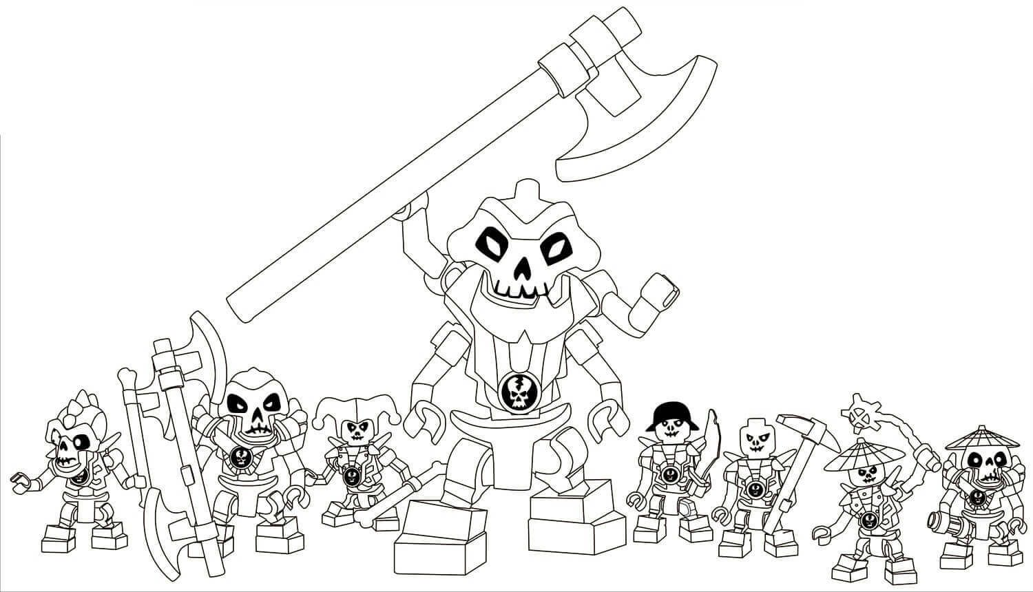 Lego Ninjago Coloring Pages Kruncha With His Team In 2020 Lego