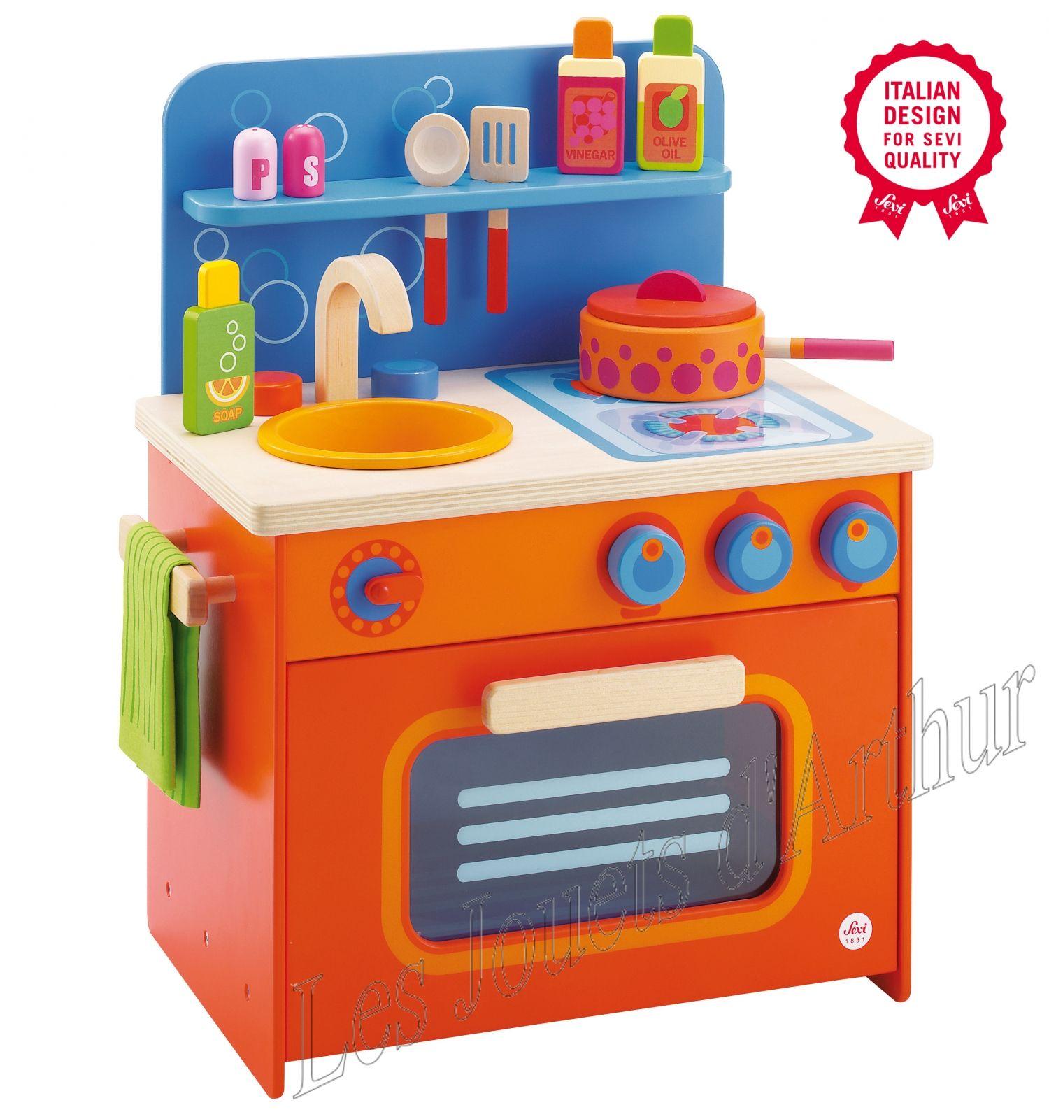 cuisine en bois pour enfant sevi pour jouer au grand cuisinier