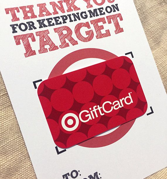 5x7 Thank You For Keeping Me On Target