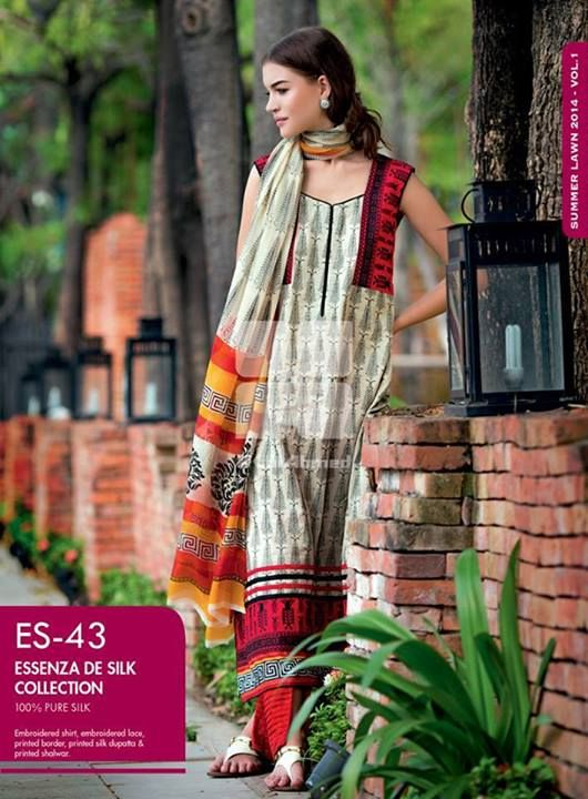 0ffdb97f4e Lawn Collection 2014, Gul Ahmed Designs, Pakistani Dresses, Women Clothing