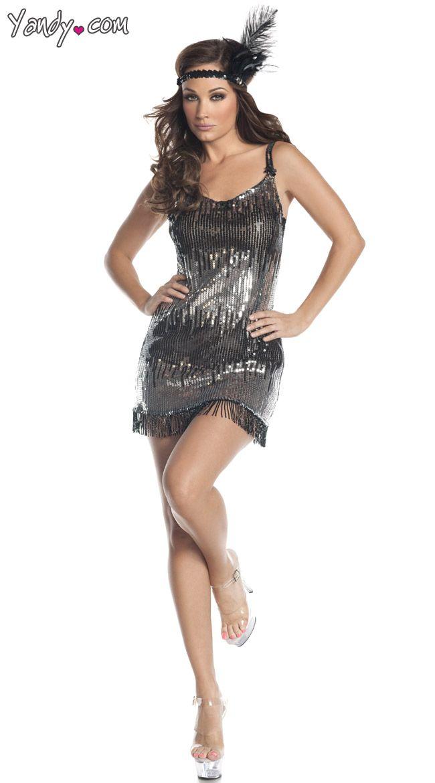 Burlesque Flapper Costume Dress Dance