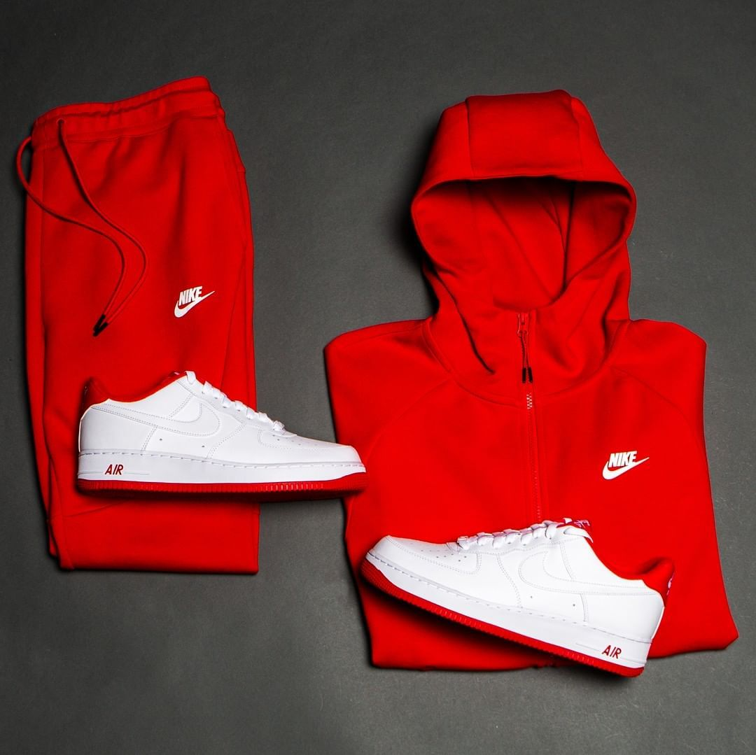 Champs sports on instagram as requested red nike tech