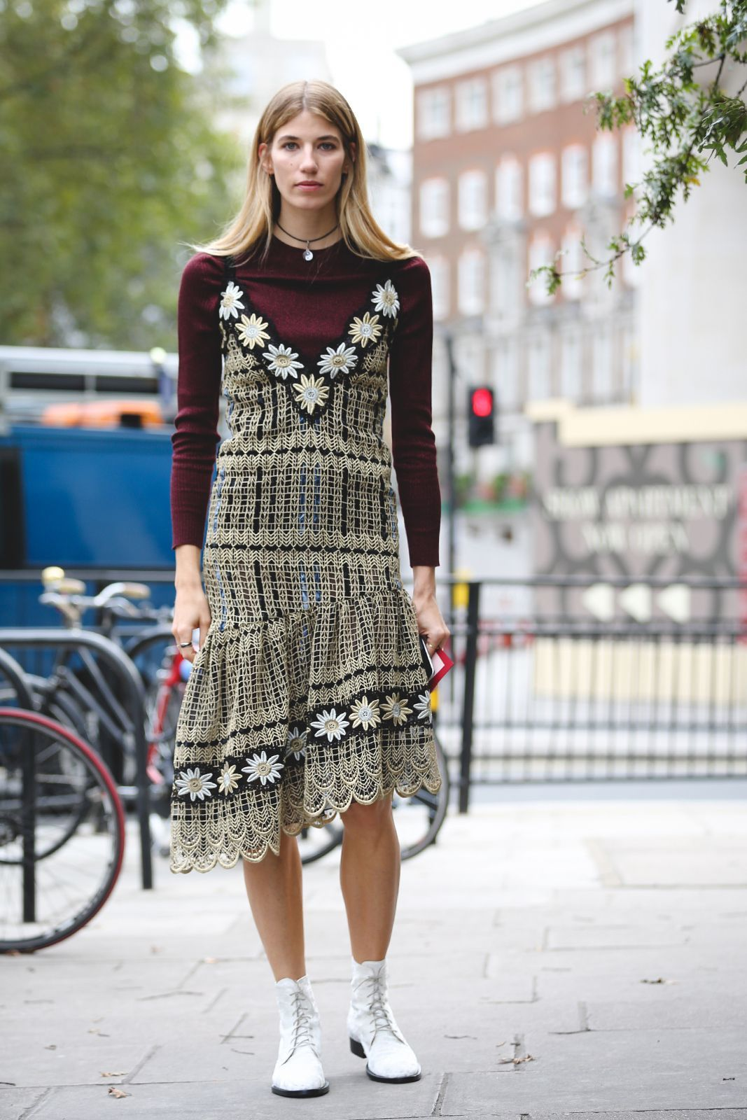 7ffbef416e0c How to transform your summer wardrobe for winter  Layer a spaghetti strap  dress over a