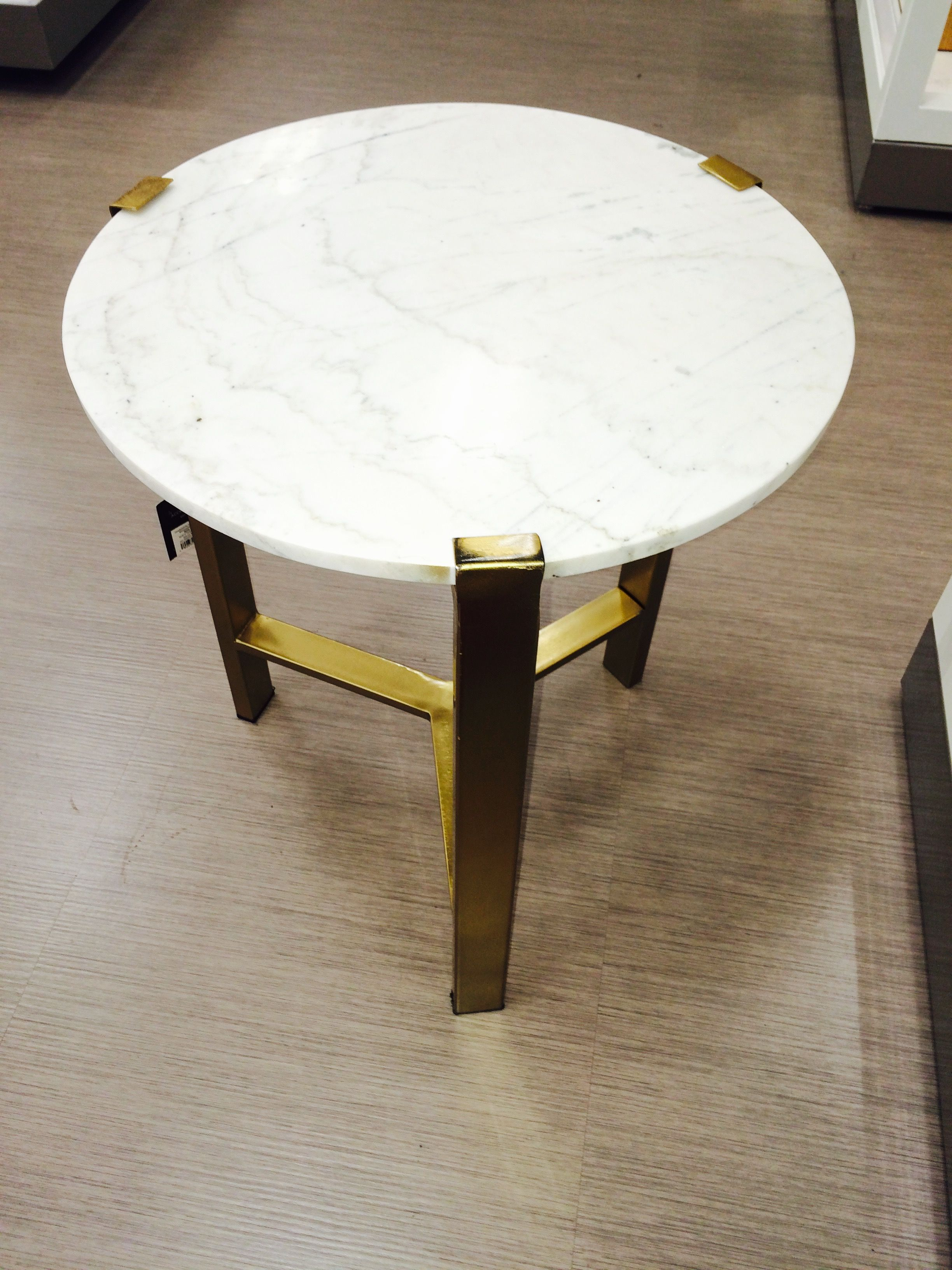 Nate Berkus For Target Gold Accent Table With Marble Top
