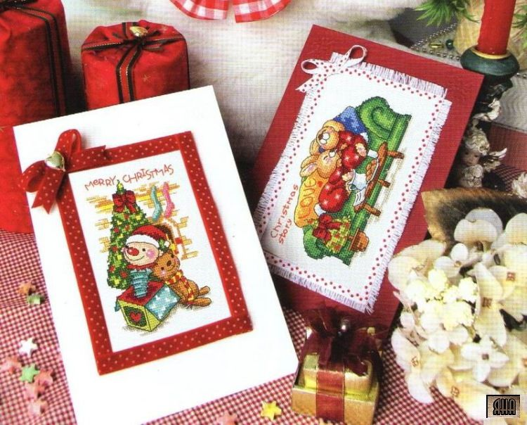 Cute Christmas Cards, Cover page, Page 1/3Af