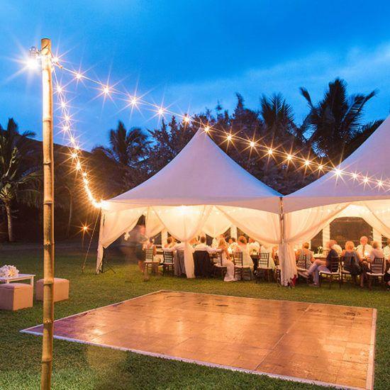 Dance Floor And Outdoor Lighting Lee S Rentals Kauai A