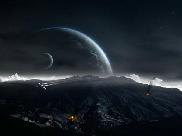 Breathtaking Dark Wallpapers For Your Desktop Hongkiat Planets Wallpaper Star Wars Wallpaper Space Art Wallpaper