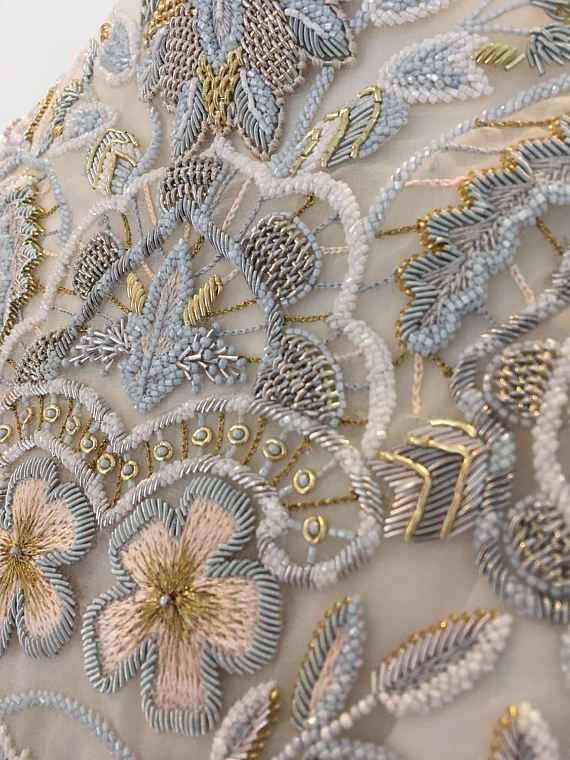 Haute couture embroidery Zardozi Embroidery for dress top | In ...