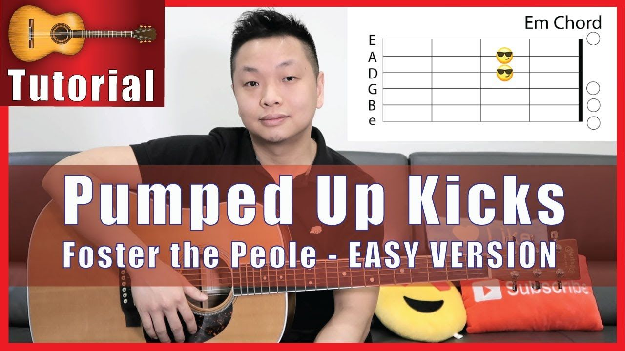 Pumped Up Kicks Foster The People Guitar Tutorial Easy Version Guitar Tutorial Acoustic Guitar Lessons Guitar Lessons