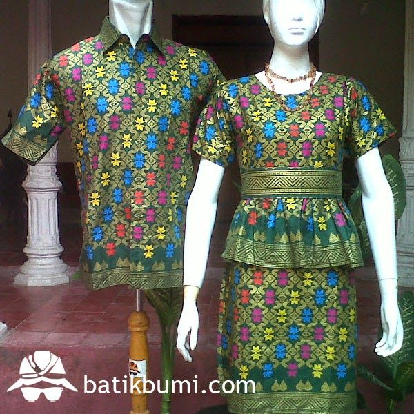 Batik Sarimbit Dress Bali Prada SD 051  jual batik murah Batik