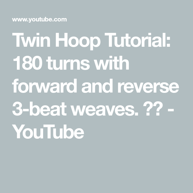 Reverse 3 beat weave twin hoop tutorial from emma at www.