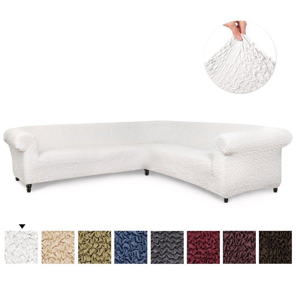 Corner Sectional Slipcover Microfibra Collection Corner Sofa Slipcover Slipcovers Couch Covers