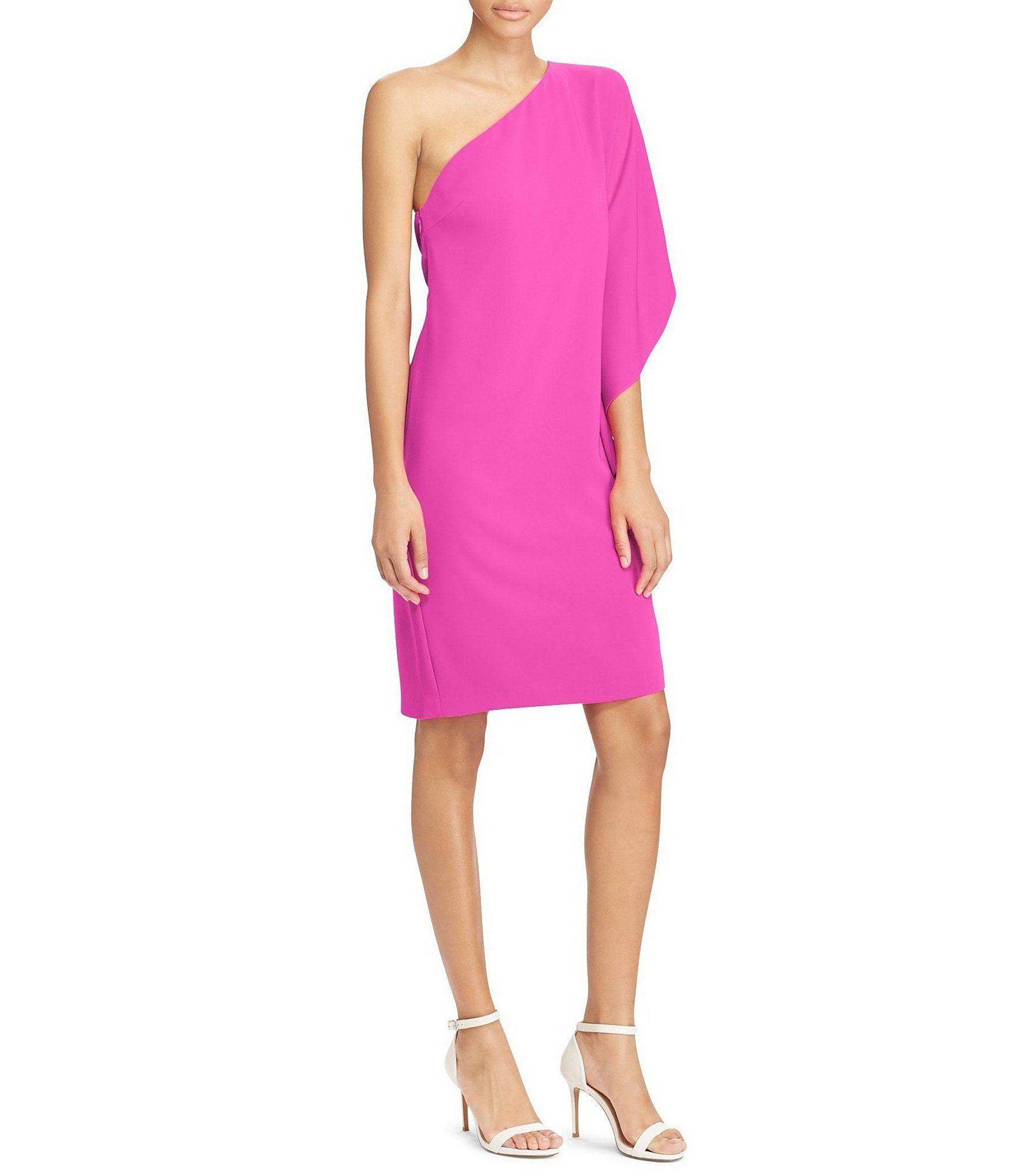 Lauren Ralph Lauren Crepe OneShoulder Dress #Dillards | Clothing ...