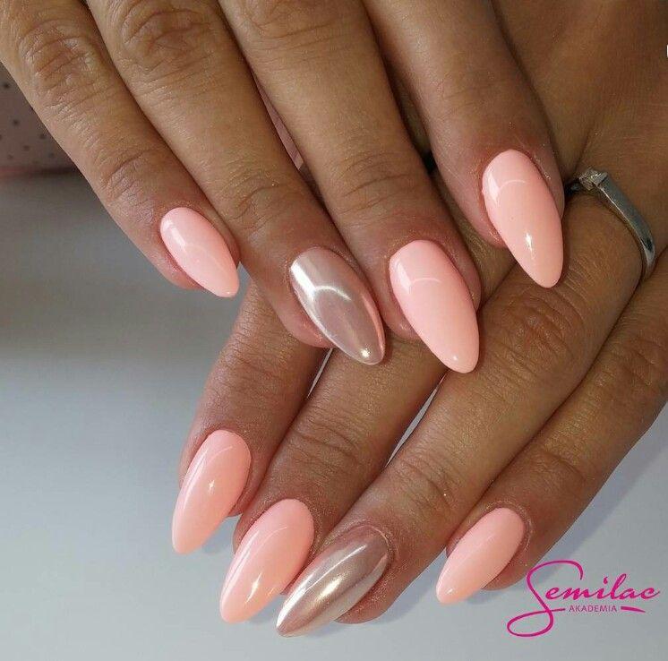 Nails Semilac Rosa Gelnagel Pinke Nagel Und Pfirsich Nagel