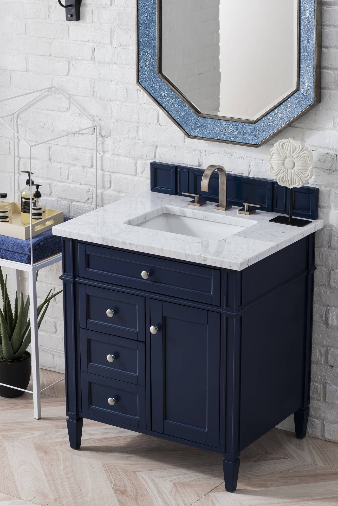 Brittany 30 Single Vanity Victory Blue In 2020 Single Bathroom