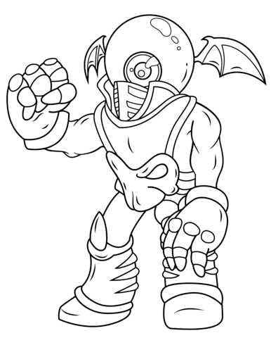 skylander wrecking ball coloring pages | Click to see printable version of Skylanders Giants Eye ...