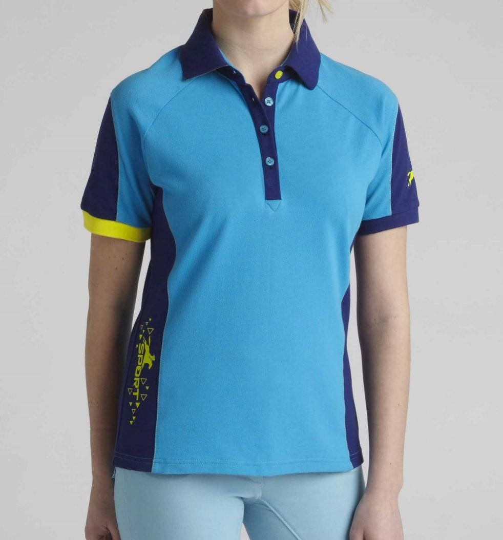 a0b10992c50b6f Relax in Tottie's take on the classic ladies polo shirt. Short sleeved with  a ribbed collar.