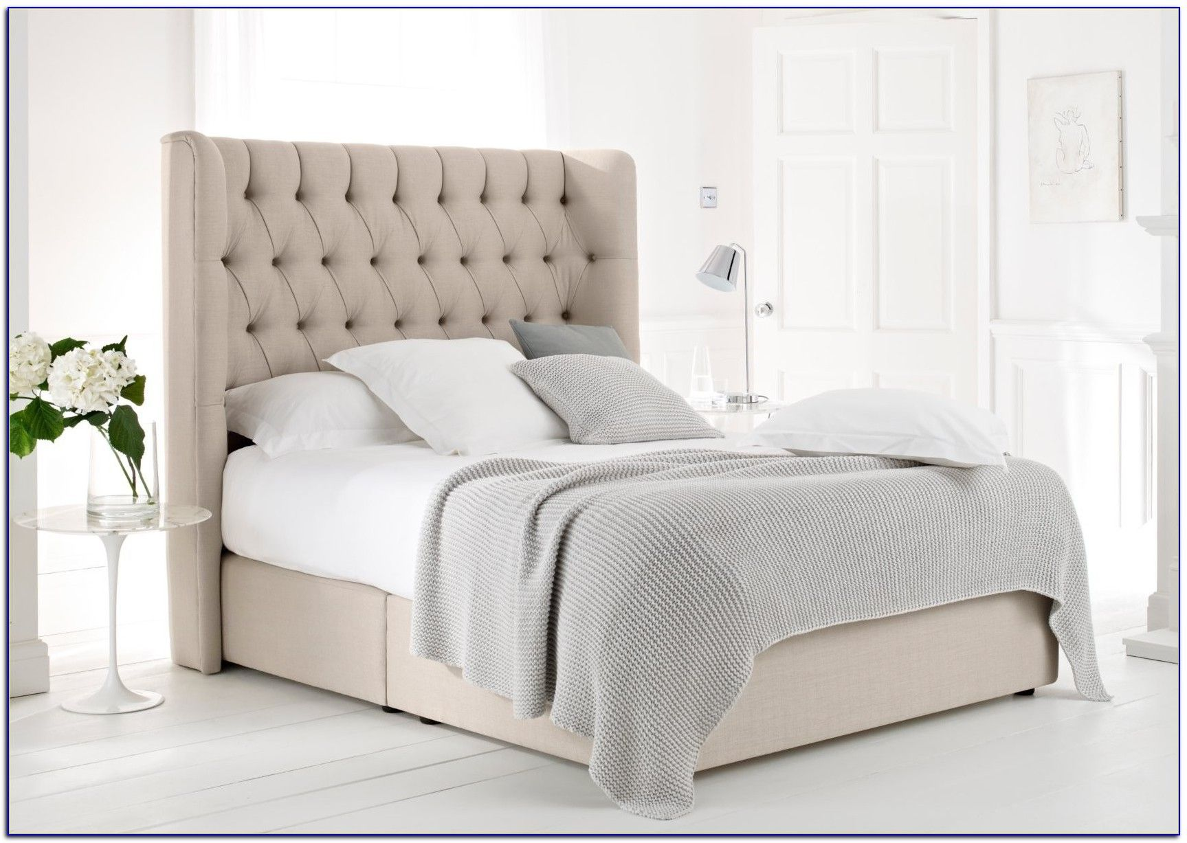 Upholstered Bed Frame And Headboard With Images King Size Bed