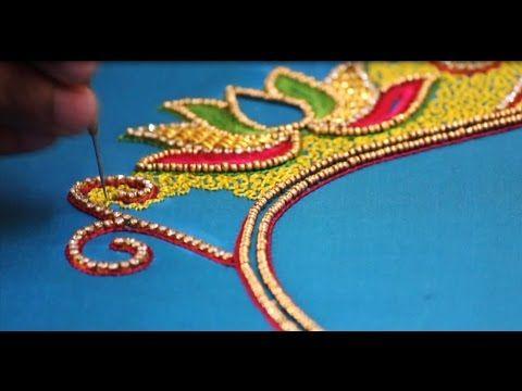 Aari Work In Tamil Aari Long And Short Stitch Aari Embroidery