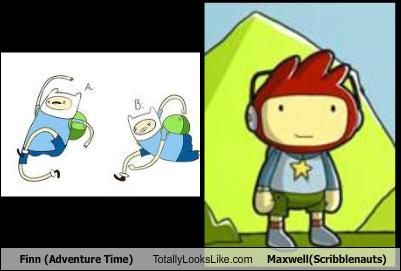Finn (Adventure Time) Totally Looks Like Maxwell(Scribblenauts)
