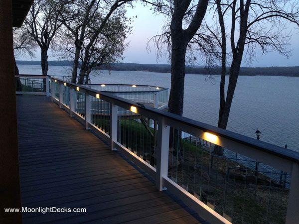 Deck Lighting Using Under Railing Leds From Moonlight