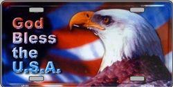 Novelty license plate Patriotic FREEDOM new aluminum auto tag Bald Eagle LP-5002
