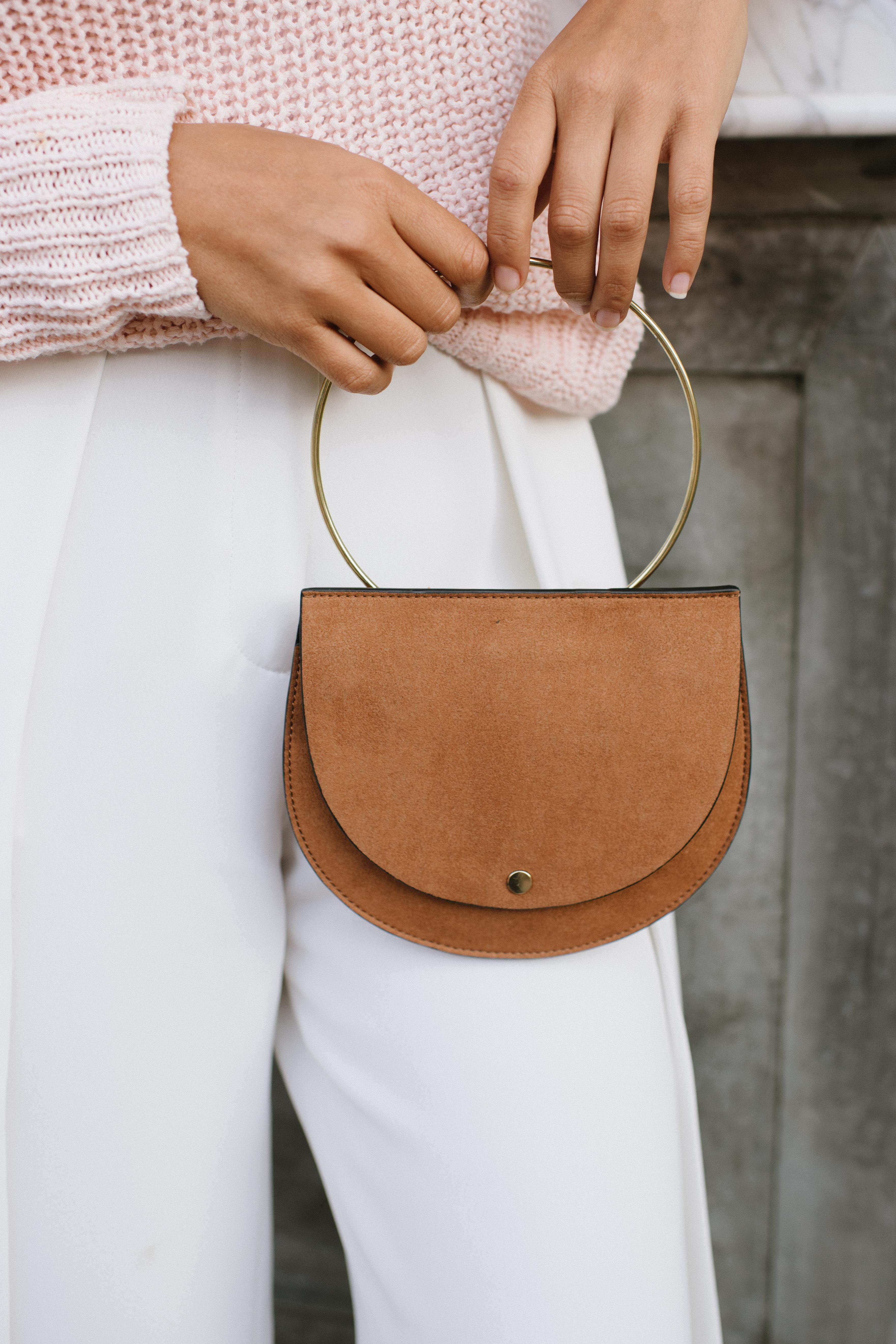 Perfect DIY Leather Fringe Bag images