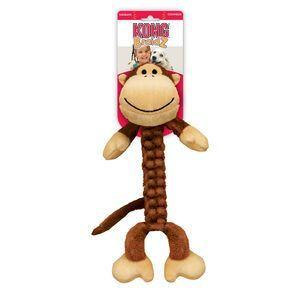 Kong Braidz Large Monkey Dog Tug Toy Cleans Teeth Bs11 Toy