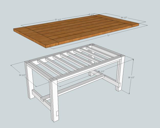 Nice Table Dimensions. Farmhouse ...