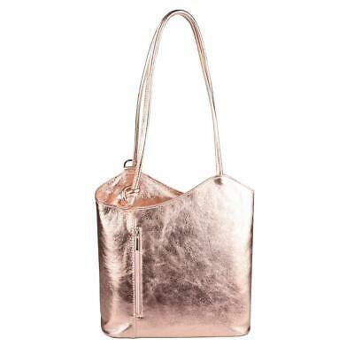 Photo of ITAL DAMEN LEDER TASCHE Metallic Rucksack Shopper Handtasche Schultertasche Bag:…