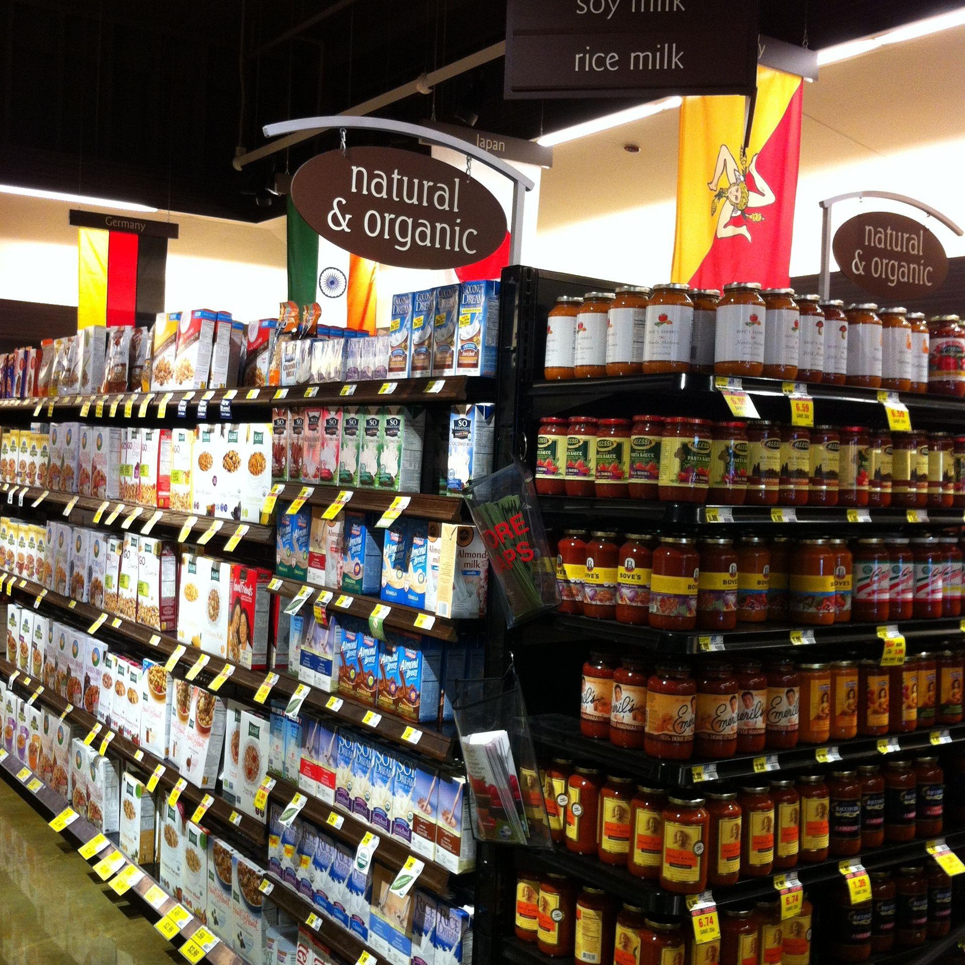 Organic Supermarket Aisles