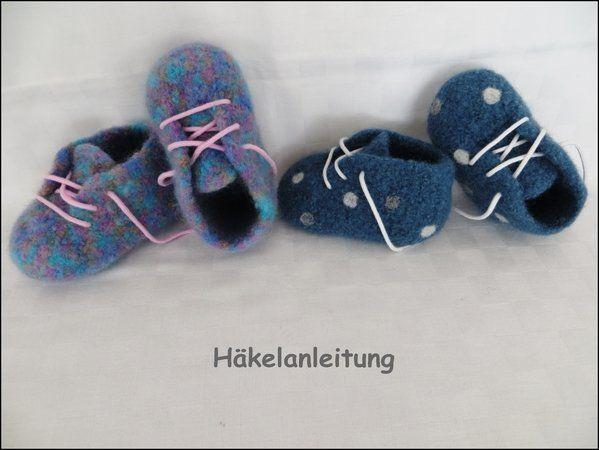 Häkelanleitung, Baby-Booties gefilzt, in 4 Größen https://www ...