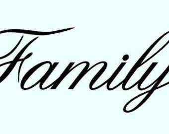 picture regarding Free Printable Word Stencils identified as Relatives+Term+Stencils Term templates Phrase stencils