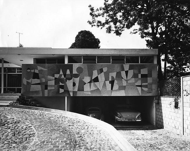 Carlos Merida Mural En Casa Particular Arquitecto Carlos